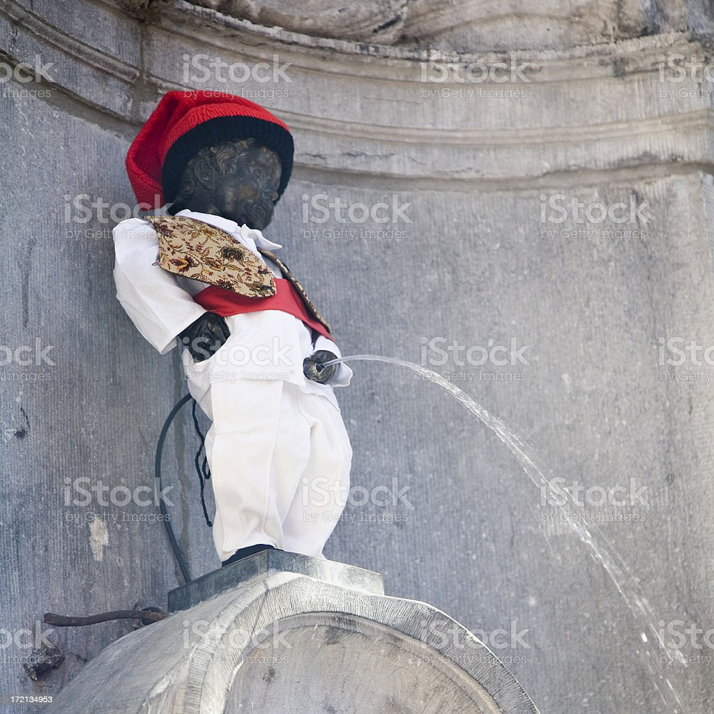 Manneken Pis statue in Brussels royalty-free stock photo