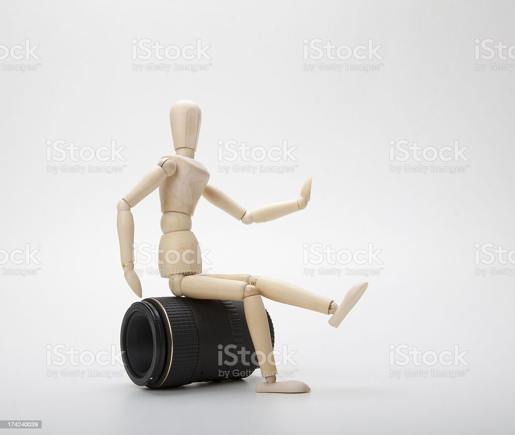 Mannequin and photo lens royalty-free stock photo