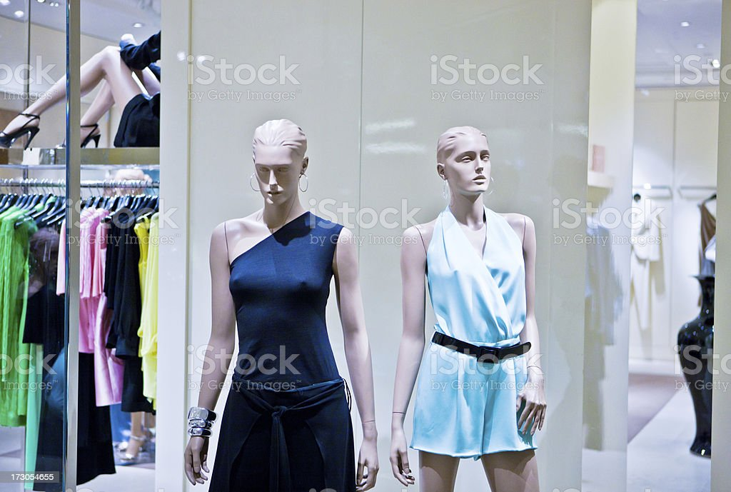 Mannequin at fashion store stock photo