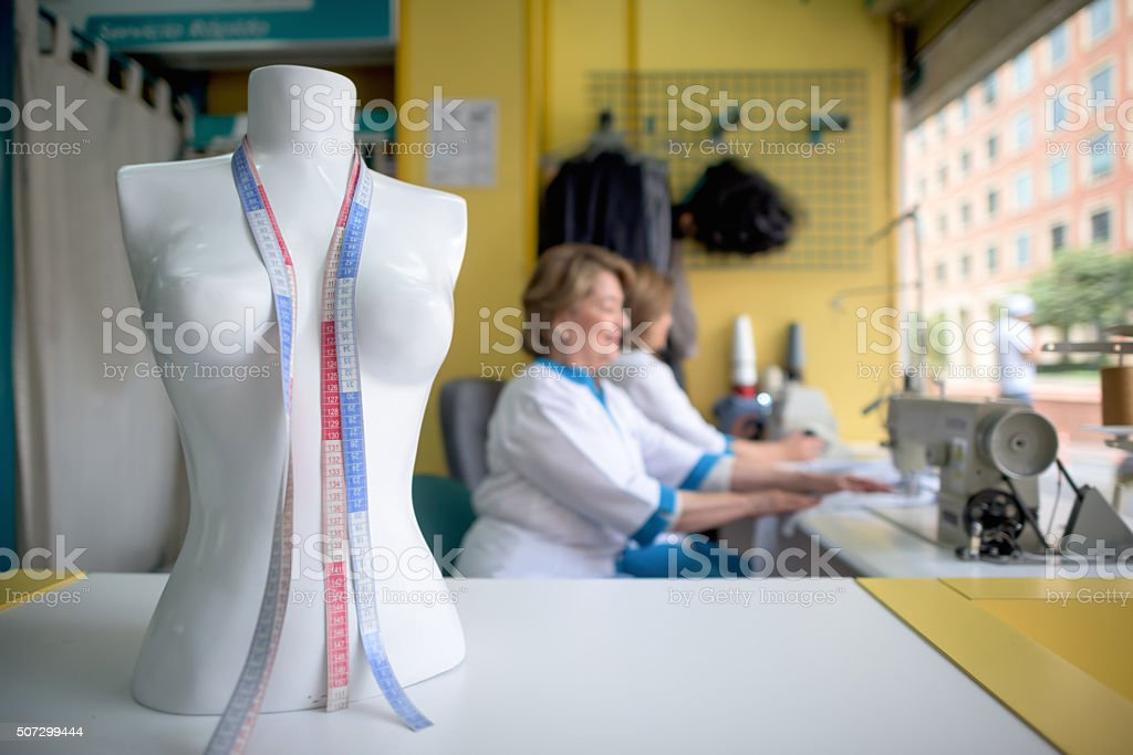 Mannequin at the tailor stock photo