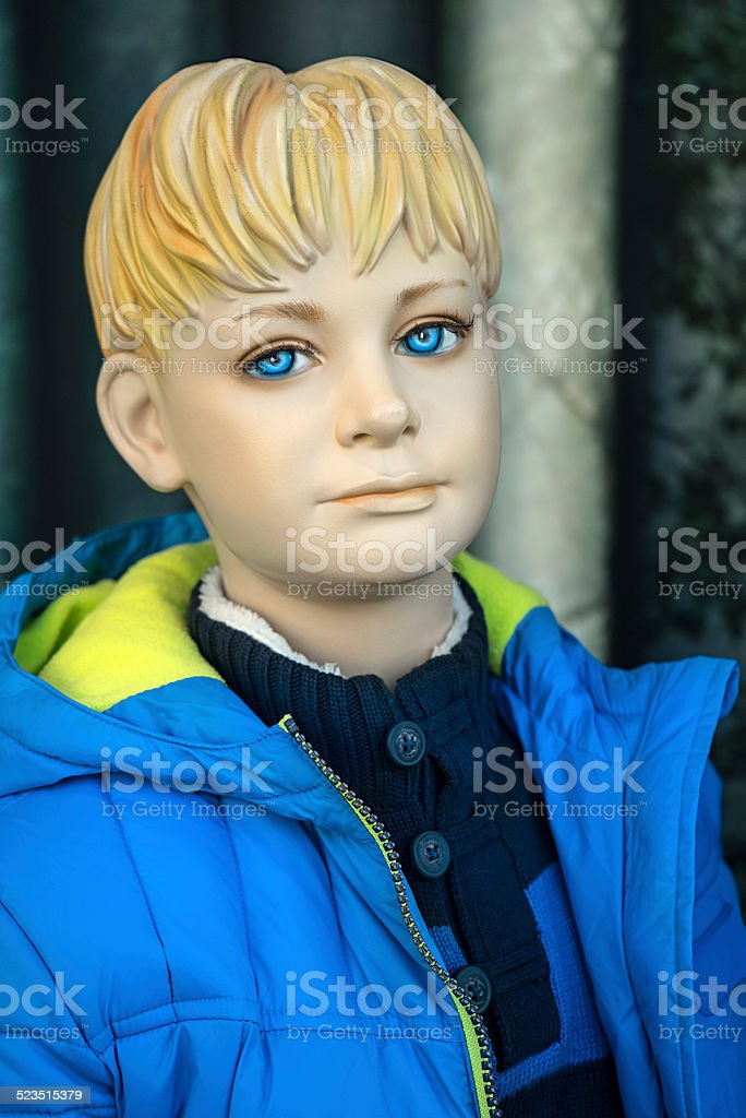 Mannequin - Blond boy with anorak royalty-free stock photo