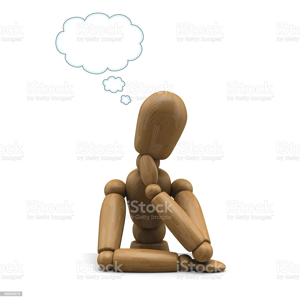 Mannequin Daydreaming stock photo