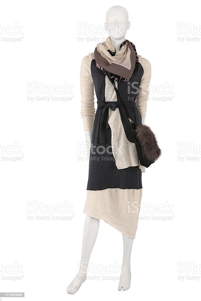 Mannequin dresses in fashionable clothes stock photo