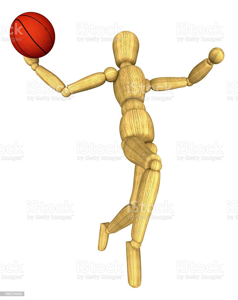 mannequin dunking royalty-free stock photo