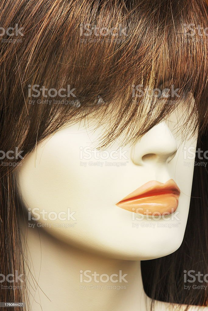 Mannequin Face Female Fashion Model royalty-free stock photo