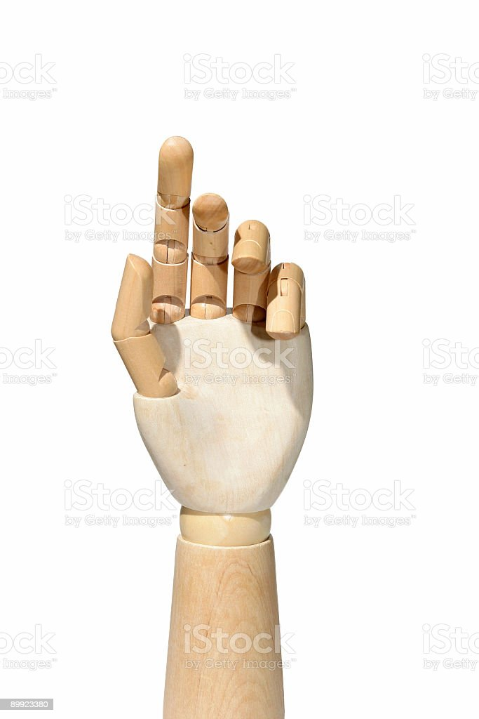 Mannequin hand royalty-free stock photo