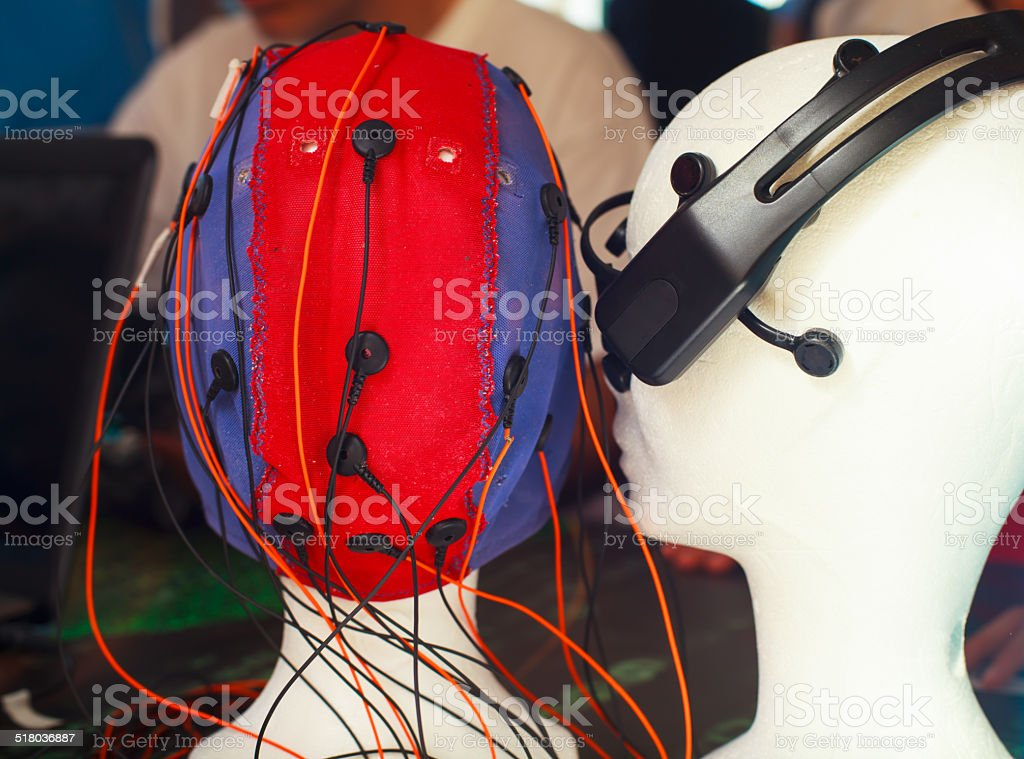 Mannequin head with sensor stock photo