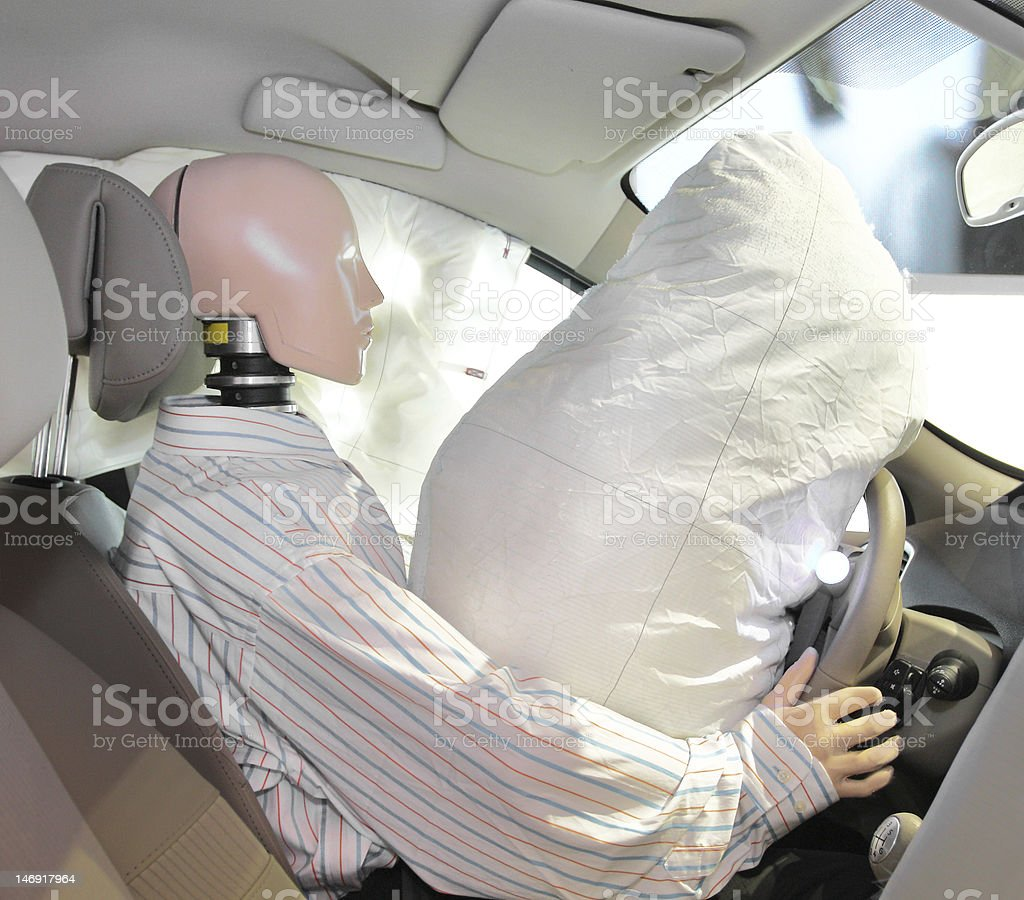 mannequin in a car stock photo