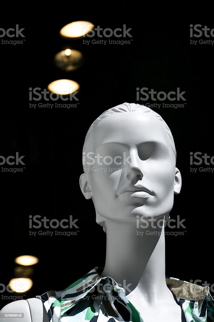 Mannequin in a fashion store royalty-free stock photo
