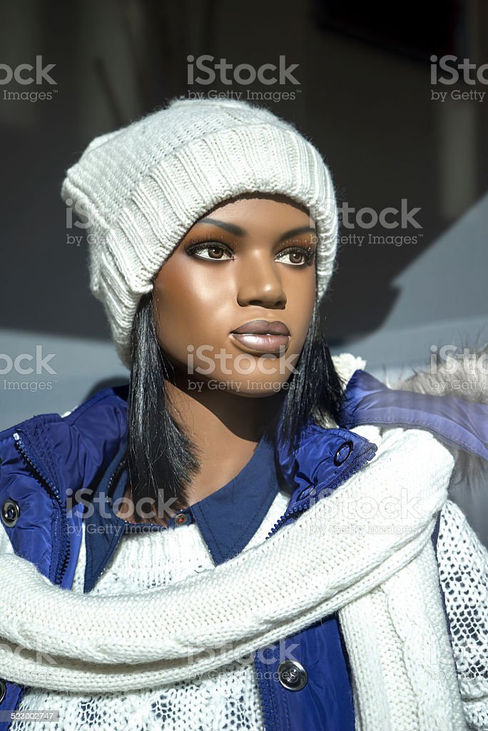 Mannequin in a sporty winter outfit royalty-free stock photo