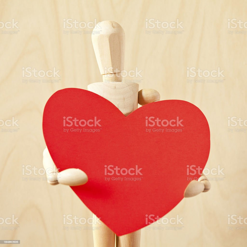 Mannequin in Love royalty-free stock photo