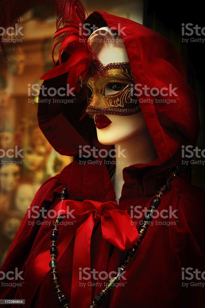 mannequin in red royalty-free stock photo