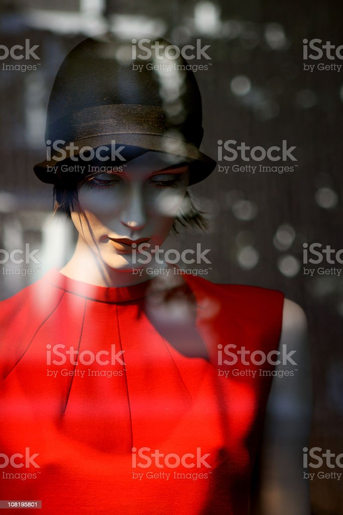 Mannequin in Store Window royalty-free stock photo
