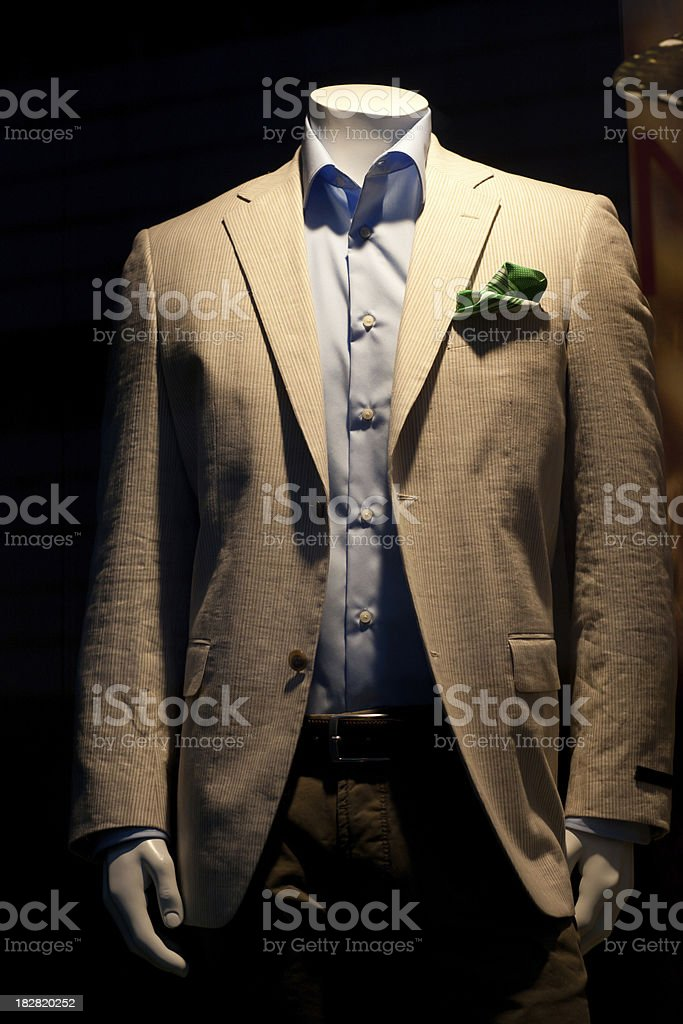 Mannequin in suit royalty-free stock photo