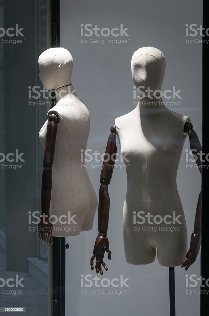 mannequin in the window stock photo
