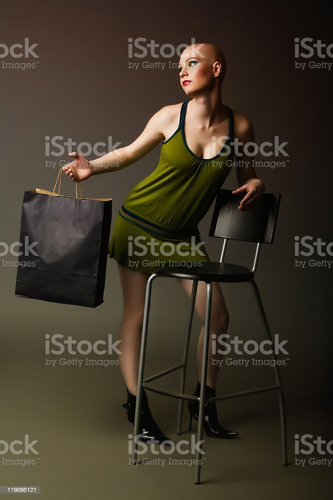 Mannequin lookalike girl royalty-free stock photo