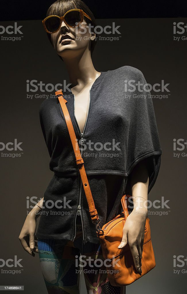A Mannequin Modeling Clothes.. royalty-free stock photo