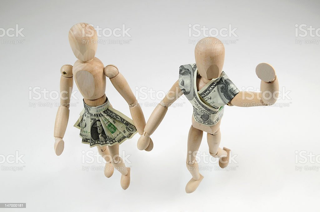 Mannequin Money Couple, lovers stock photo