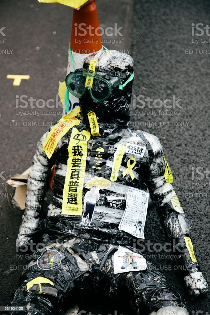 Mannequin, Occupy Hong Kong stock photo