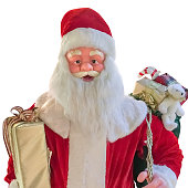 mannequin of Santa Claus isolated of a white background