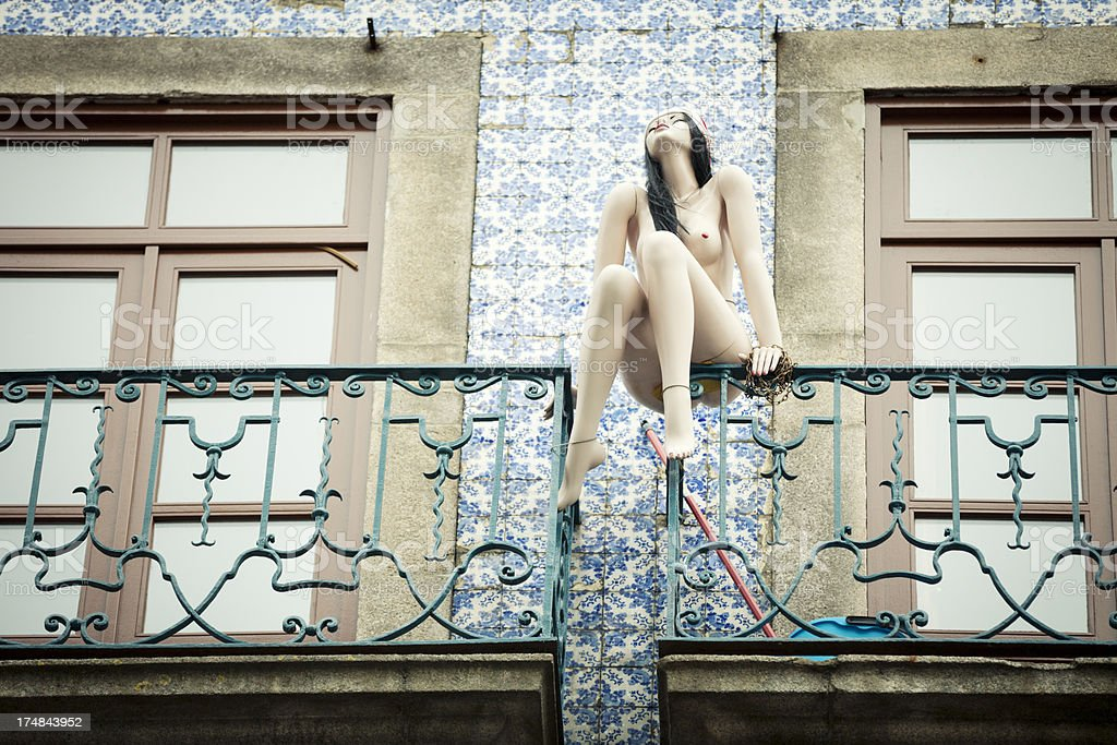 Mannequin On Balcony royalty-free stock photo