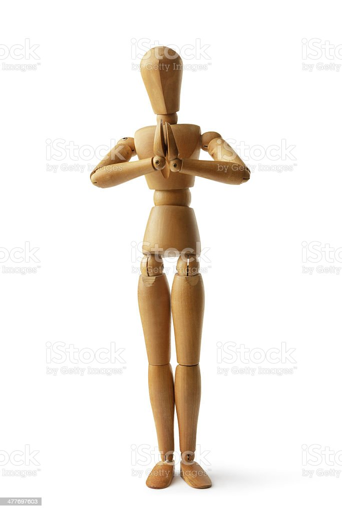 Mannequin: Praying royalty-free stock photo