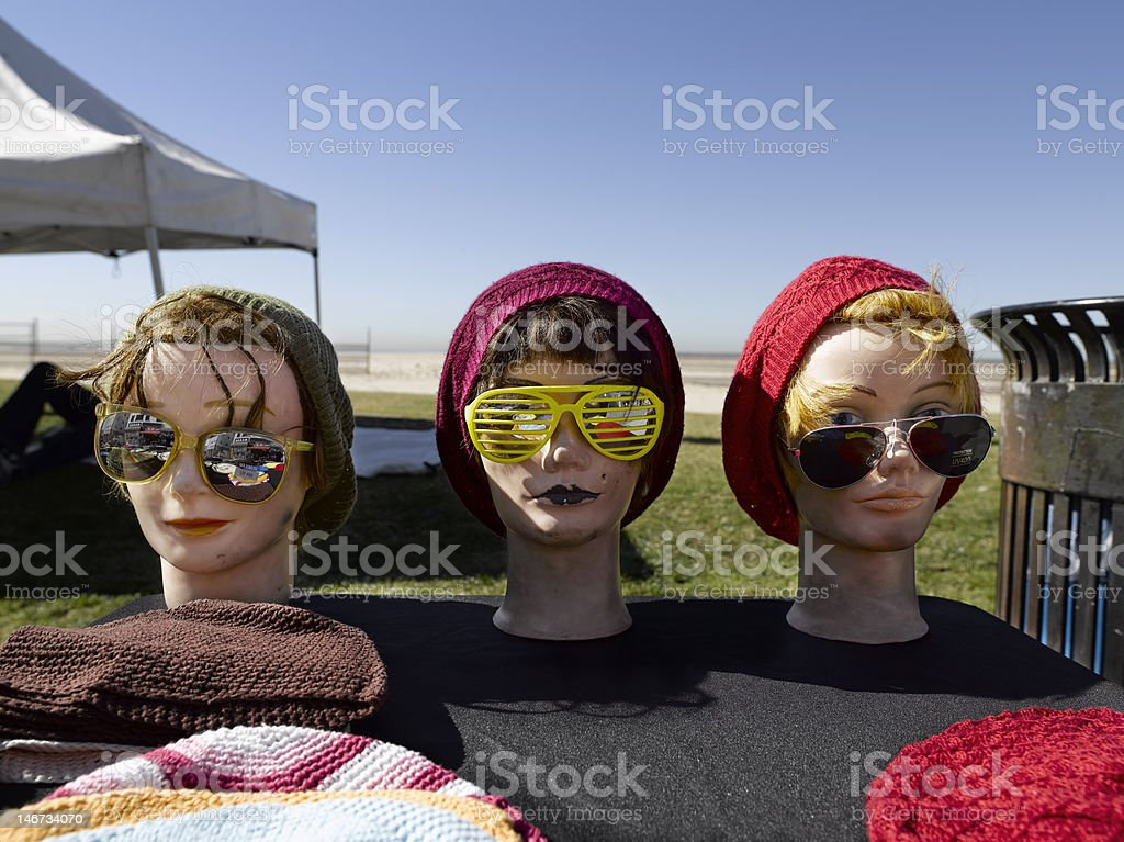 Mannequin Puppet with hats royalty-free stock photo