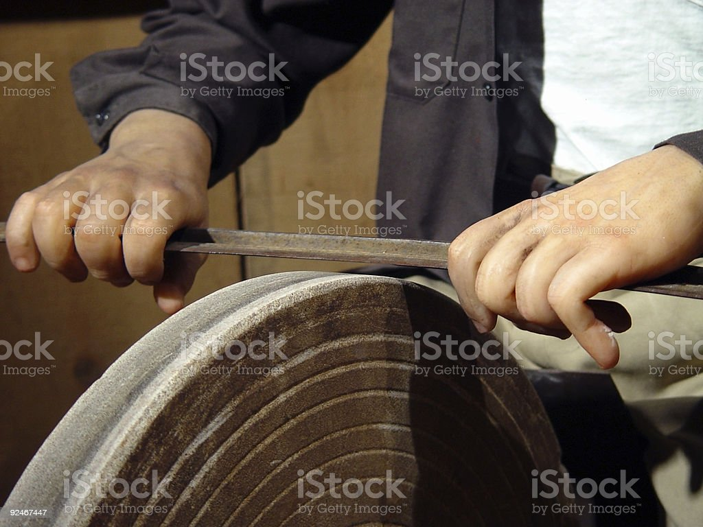 Mannequin, Sharpening Blade royalty-free stock photo