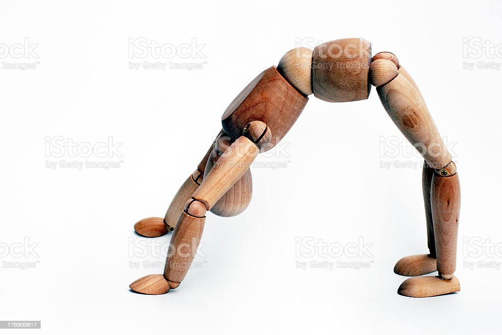 Mannequin showing how to back bend  stock photo