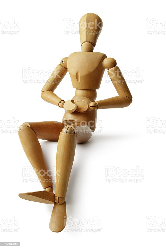 Mannequin: Sitting royalty-free stock photo