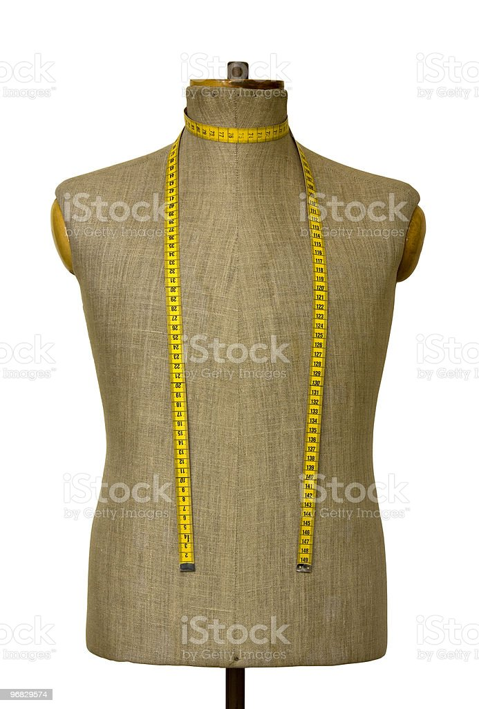 Mannequin torso with clipping path stock photo