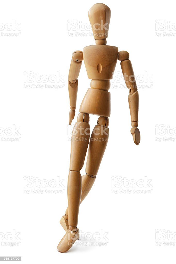 Mannequin: Walking Mannequin Isolated on White Background stock photo