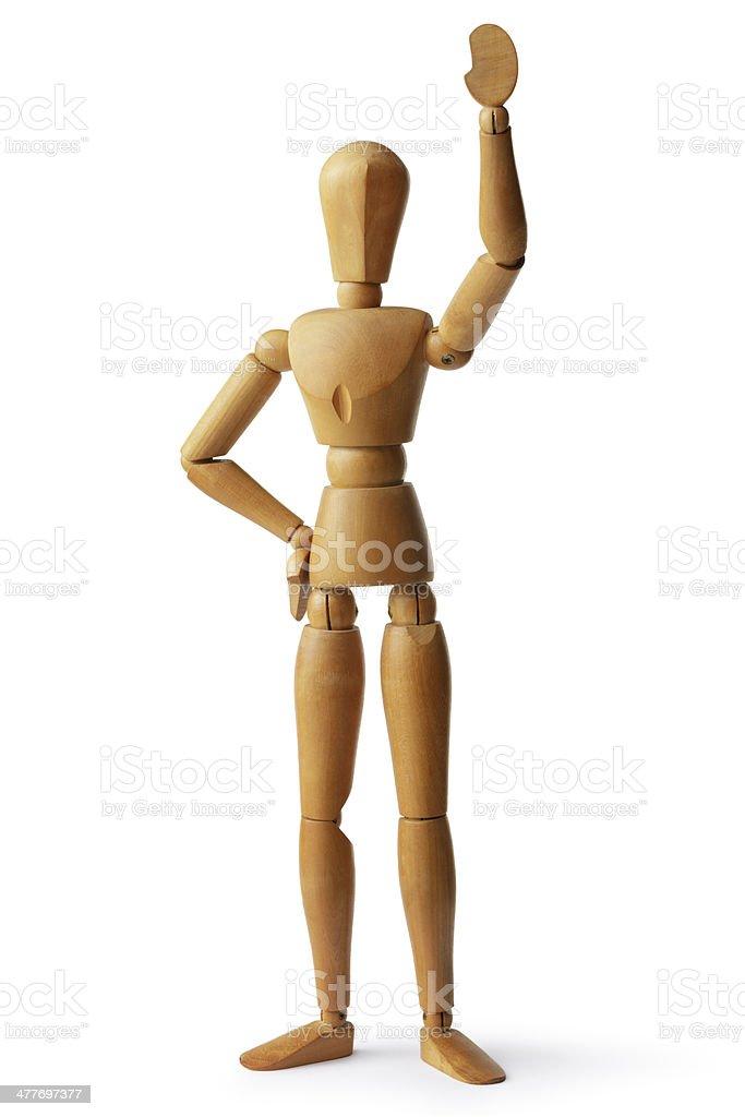 Mannequin: Waving stock photo