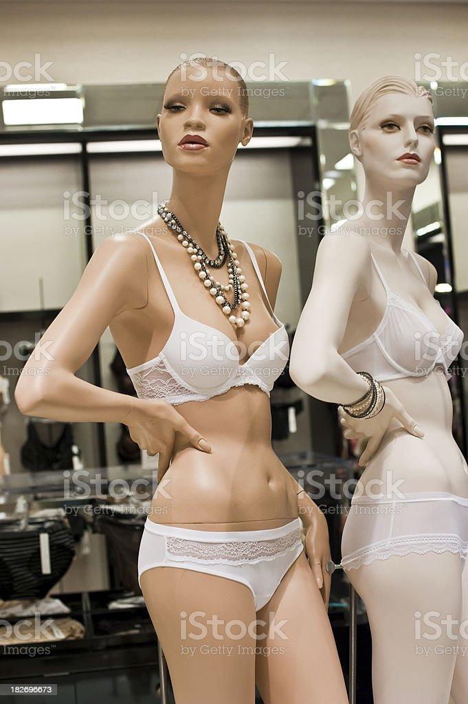 Mannequin wearing fancy underwear royalty-free stock photo