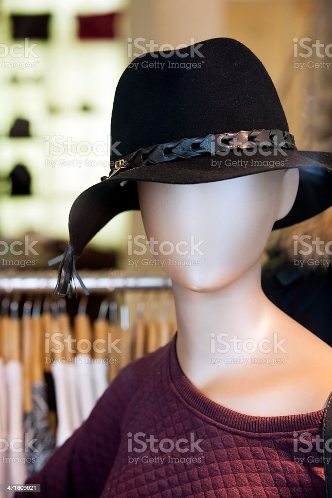 Mannequin with hat royalty-free stock photo