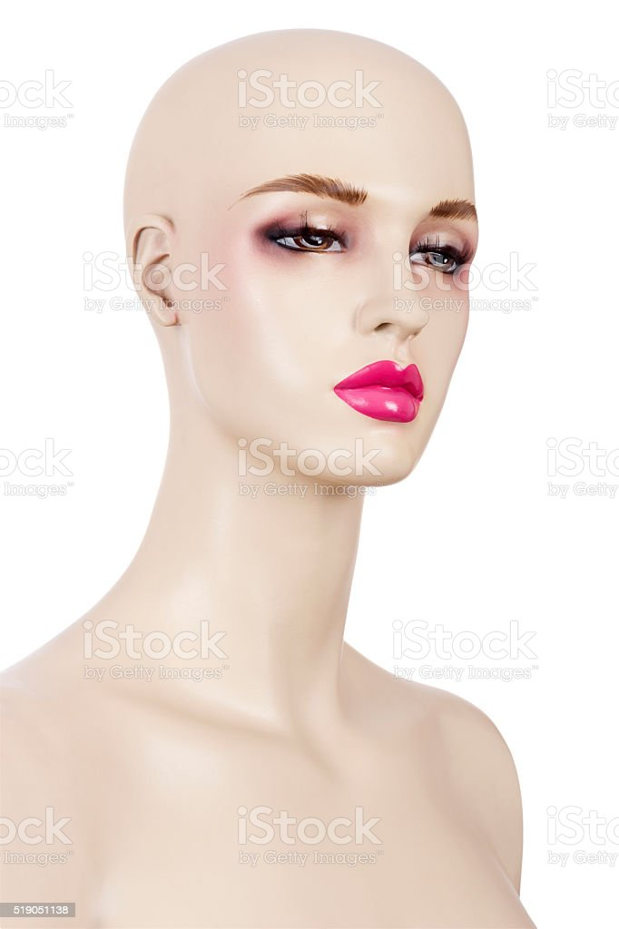 Mannequin with makeup stock photo