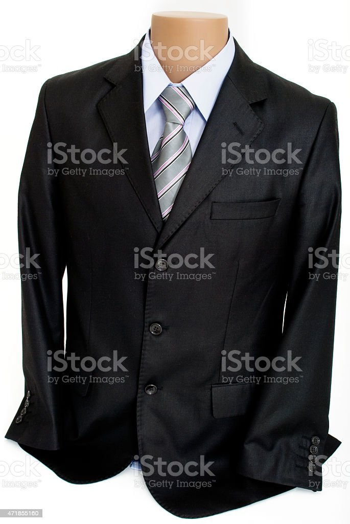 Mannequin with Male Formal Suit, Isolated on White Background stock photo