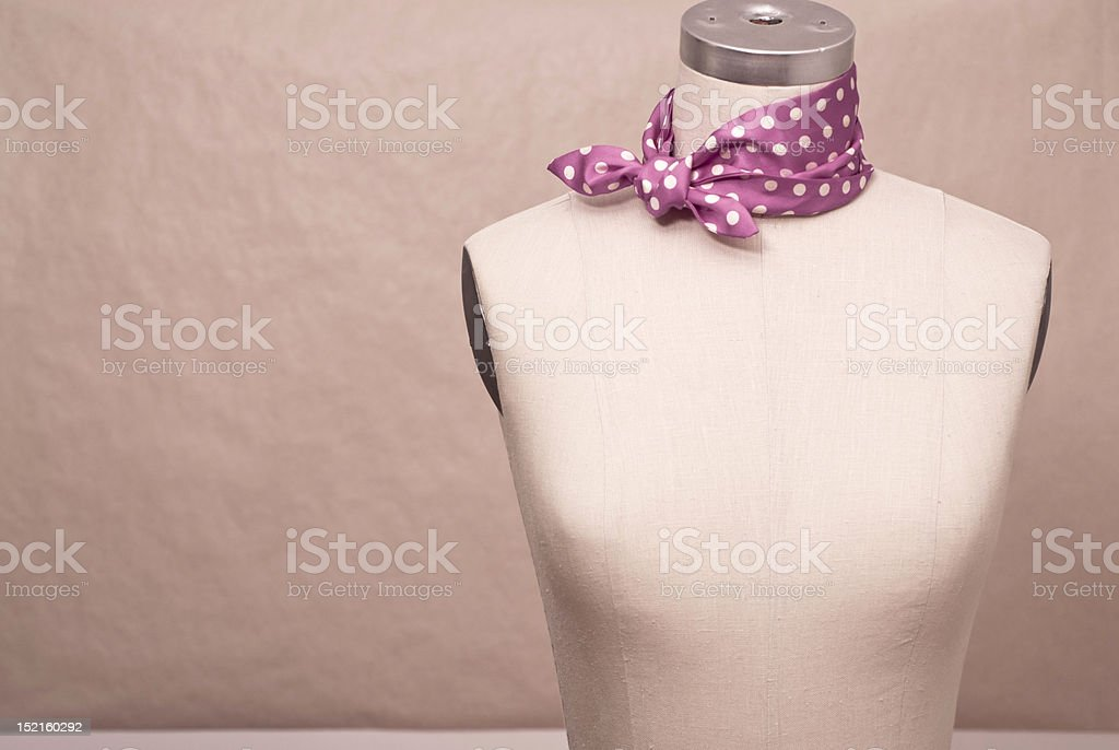 Mannequin with neckerchief royalty-free stock photo