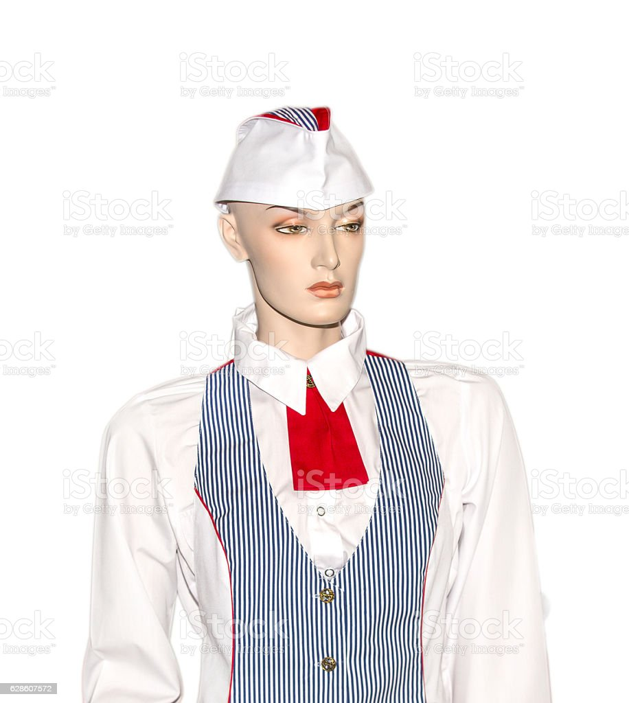 Mannequin woman in uniform stock photo