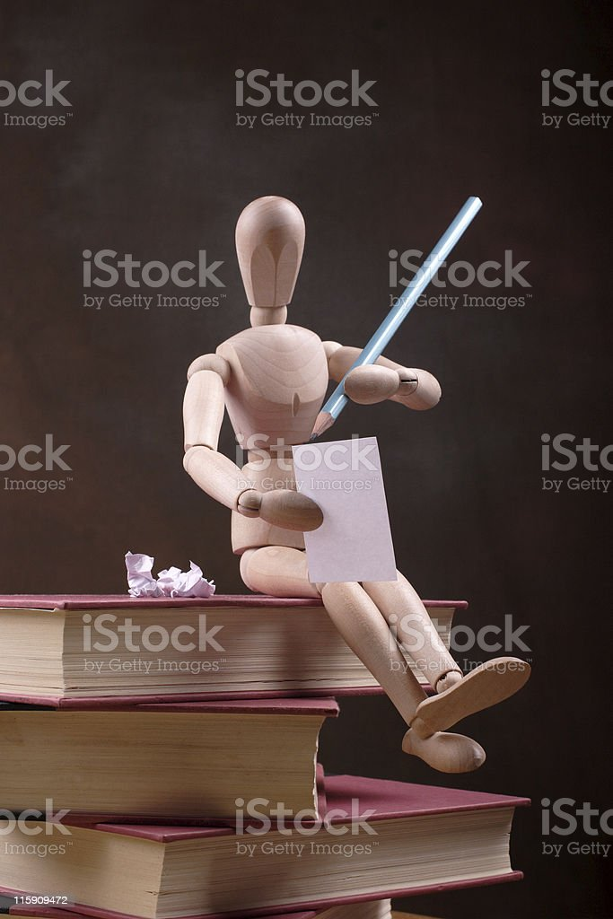 mannequin writer royalty-free stock photo