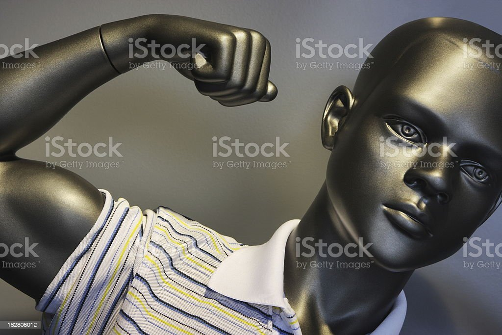 Mannequin Youth Muscular Bicep Fashion royalty-free stock photo