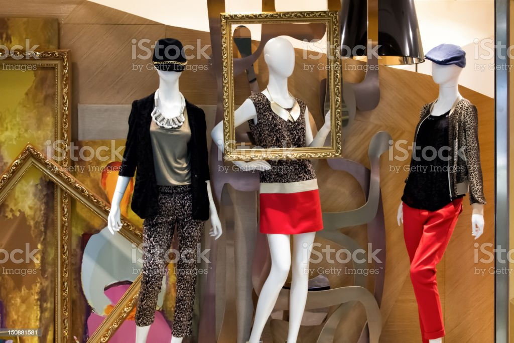 Mannequins display stock photo