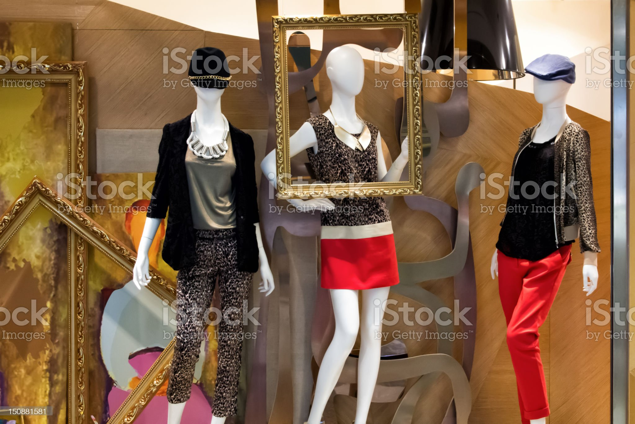Mannequins display royalty-free stock photo