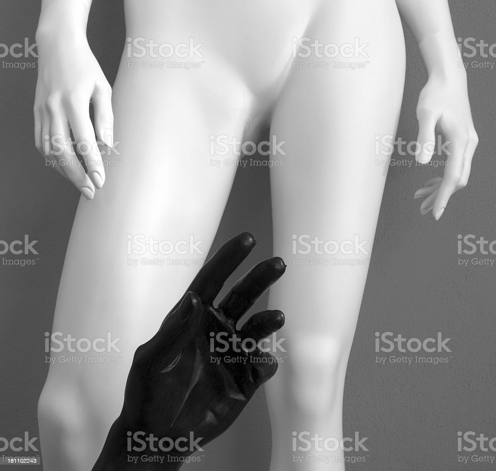 Mannequin's hands royalty-free stock photo