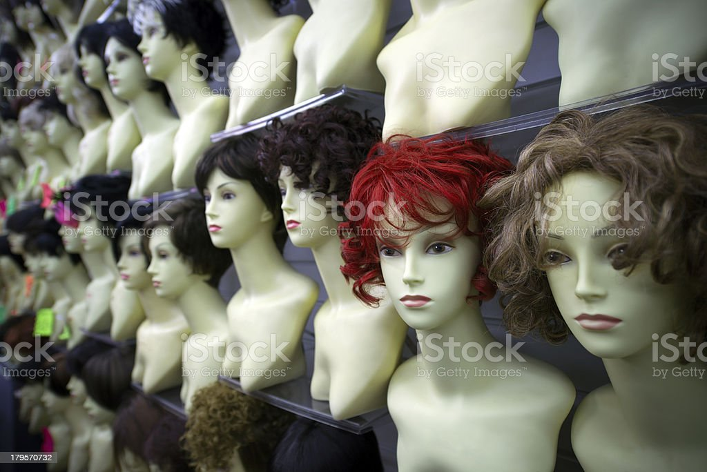 Mannequin's heads and chests royalty-free stock photo
