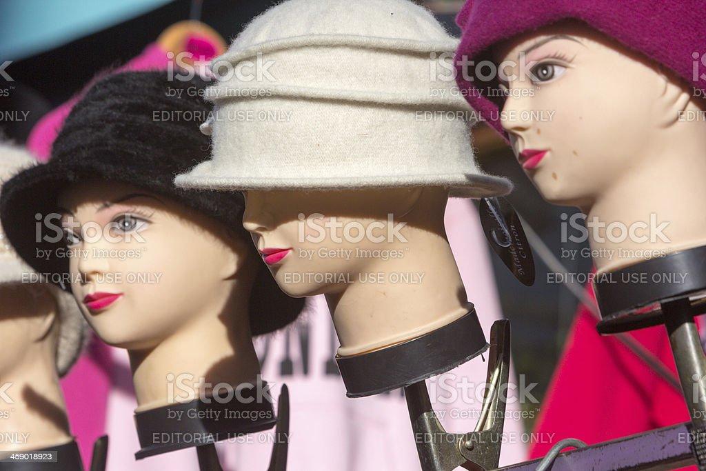 Mannequins in Portobello Market, London royalty-free stock photo