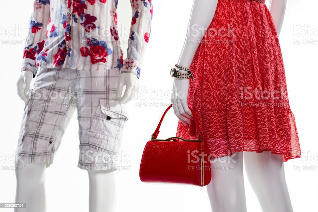 Mannequins in stylish clothing. stock photo