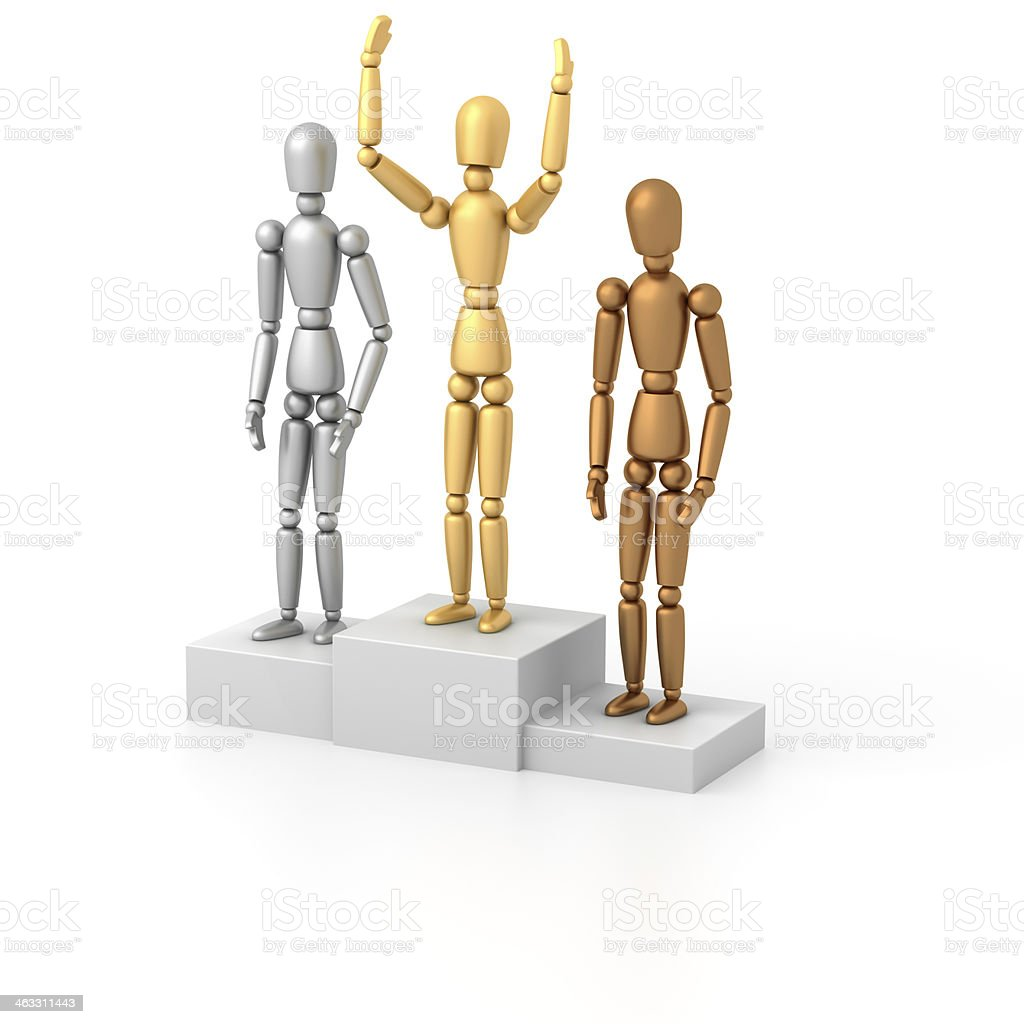 Mannequins on podium royalty-free stock photo