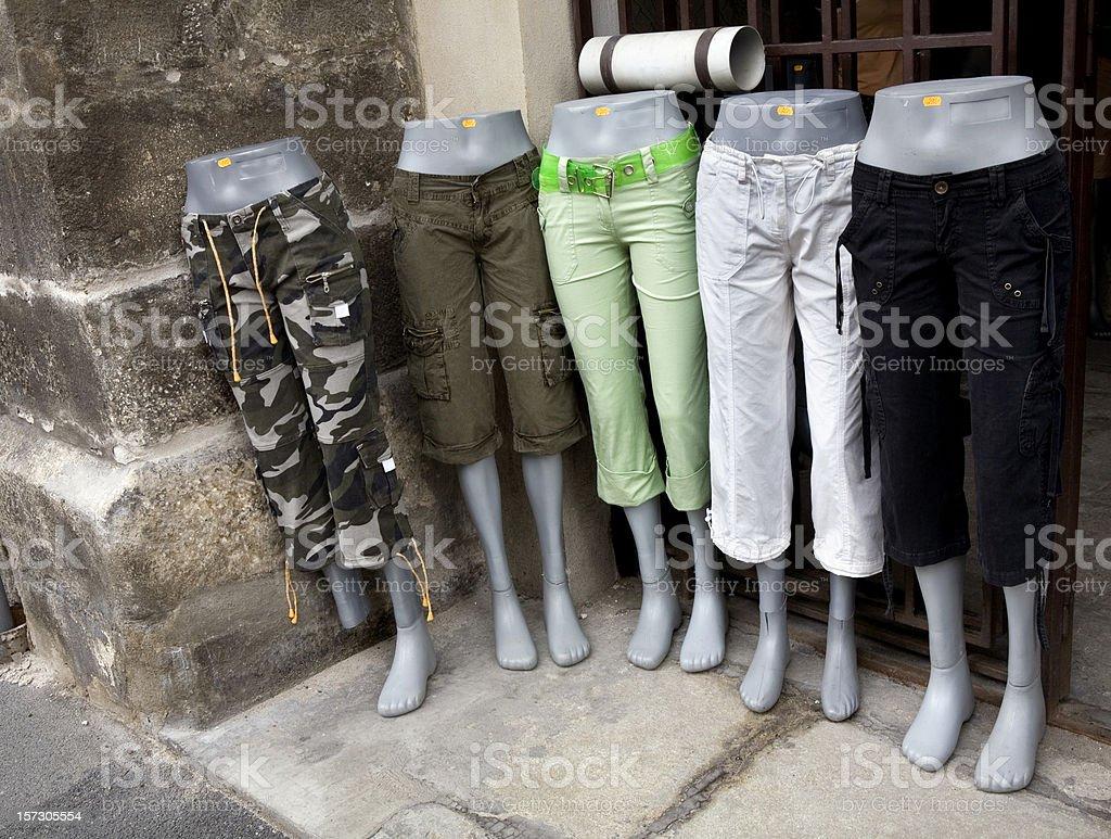 Mannequins Retail Shop in Capri Pants stock photo