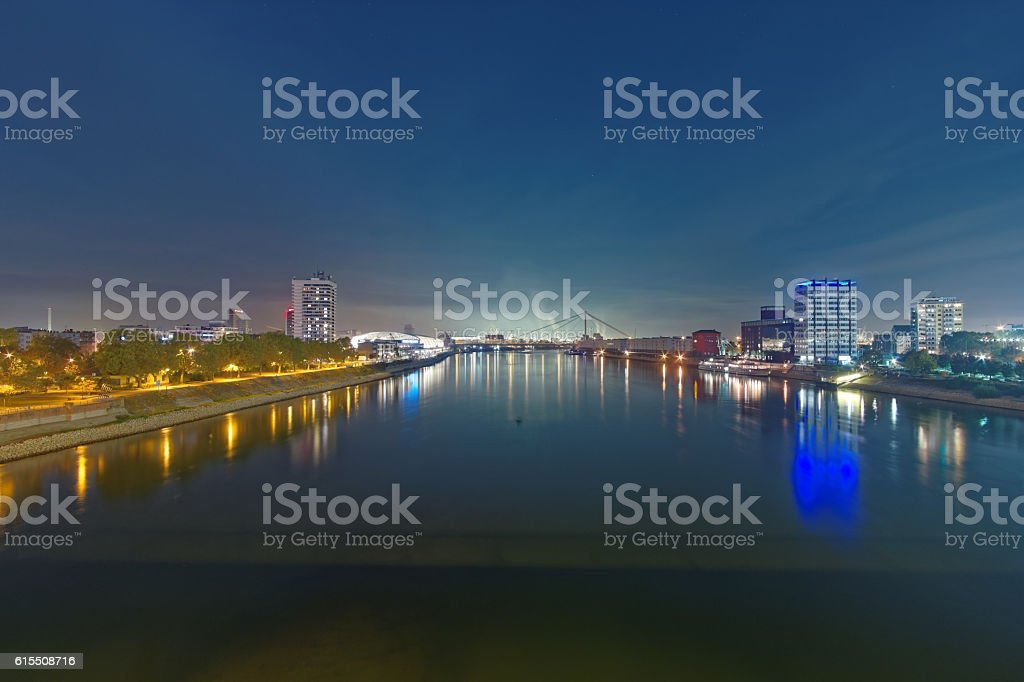 Mannheim and Ludwigshafen stock photo